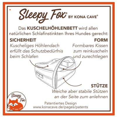 Sleepy Fox® mysgrotta brun