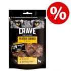 40 % sleva! 2 x 55 g / 75 g Crave Protein snacky pro psy za skvělou cenu!