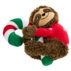 Sloth and Candy Cane Dog Toy