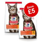 Small Bags Hill's Science Plan Dry Cat Food - £5 Off!*