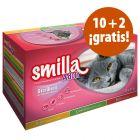 Smilla Adult Sterilised 12 x 85 g oferta: 10 + 2 ¡gratis!