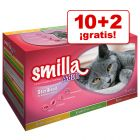 Smilla Adult Sterilised 12 x 85 g oferta: 10 + 2 ¡gratis!
