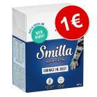 Smilla Bocaditos en gelatina 380 g para gatos ¡por solo 1€!