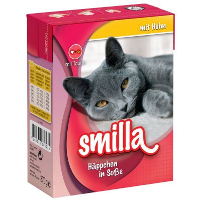 Smilla Chunks Tetra Pak Wet Cat Food Saver Pack 24 x 370g/380g