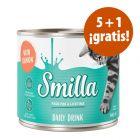 Smilla Daily Drink 6 x 140 ml bebida para gatos en oferta: 5 + 1 ¡gratis!
