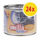 Smilla Kitten Kattenvoer voordeelpakket: 24 x 200 g