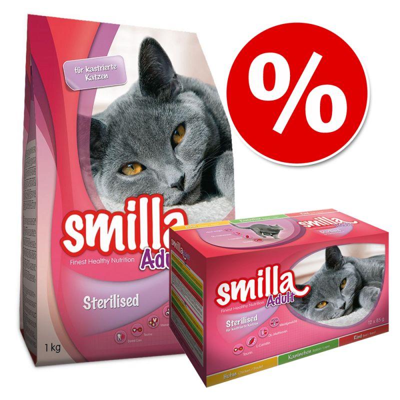 Smilla Sterilised pienso + comida húmeda - Pack mixto