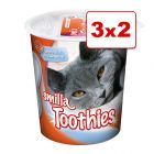 Smilla Toothies o Hearties snacks para gatos en oferta 3 x 125g: 2 + 1 ¡gratis!