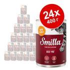 Бонус опаковка Smilla специалитети с говеждо 24 x 400 г