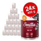 Πακέτο Προσφοράς Smilla Κονσέρβα με Βοδινό 24 x 400 g