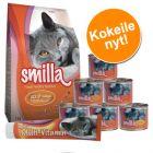 Smilla-kokeilupakkaus: kuivaruoka, märkäruoat + tahna