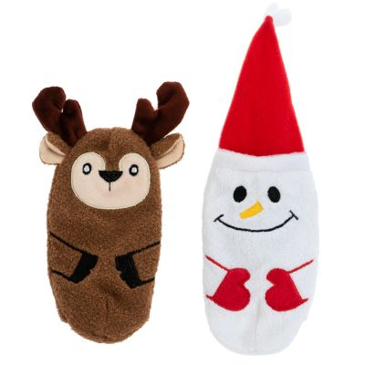 Snowman and Reindeer Toy Set with Crackling Foil