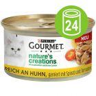 Sparepakke: 24 x 85 g Gourmet Nature's Creations