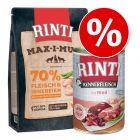 Sparesæt: 6 x 400 g RINTI Mix + 1 kg RINTI Max-i-mum kylling