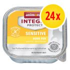 Sparpack: Animonda Integra Protect Adult Sensitive 24 x 100 g portionsform
