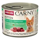 Sparpack: Animonda Carny Kitten blandpack 24 x 200 g