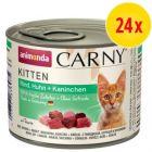 Sparpack: Animonda Carny Kitten 24 x 200 g