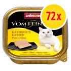 Sparpack: Animonda vom Feinsten för kastrerade katter 72 x 100 g