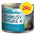 Sparpack: Schmusy Nature Fish 24 x 185 g
