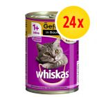Sparpack: Whiskas 1+ Adult på burk 24 x 400 g