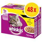 Sparpack: Whiskas 1+ Adult portionspåsar 48 x 100 g