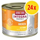 Sparpaket: 24 x 200 g Animonda Integra Protect Adult Niere Dose
