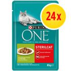 Sparpaket: 24 x 85 g Purina One