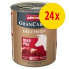 Sparpaket Animonda GranCarno Adult Single Protein 24 x 800 g