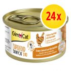 Sparpaket GimCat Superfood ShinyCat Duo 24 x 70 g