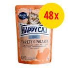 Sparpaket Happy Cat Pouch All Meat 48 x 85 g