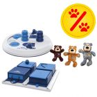 Sparpaket! Trixie Dog Activity Flip Board + Poker Box + KONG WildKnots Bears