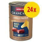 Sparpaket Animonda GranCarno Adult Single Protein Supreme 24 x 400 g