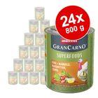 Sparpaket Animonda GranCarno Adult Superfoods 24 x 800 g