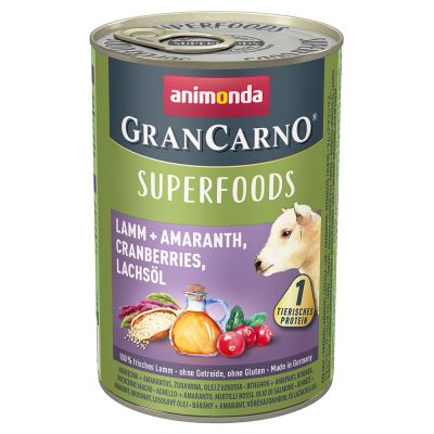 Sparpaket Animonda GranCarno Adult Superfoods 24 x 400 g