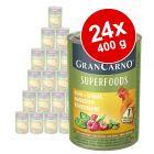 Sparpaket Animonda GranCarno Adult Superfoods 24 x 400 g