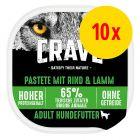 Sparpaket Crave Adult Hundefutter Nass Pastete 10 x 300 g