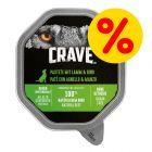 Sparpaket Crave Adult Pastete Hundefutter 7 x 150 g