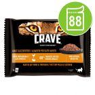 Sparpaket Crave Katze Nassfutter Pouch Multipack 88 x 85 g