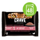 Sparpaket Crave Katze Nassfutter Pouch Multipack 48 x 85 g