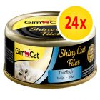 Sparpaket GimCat ShinyCat Filet 24 x 70 g