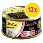 Sparpaket GimCat ShinyCat Filet 12 x 70 g