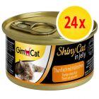 Sparpaket GimCat ShinyCat Jelly 24 x 70 g
