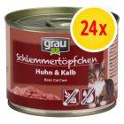 Sparpaket grau Schlemmertöpfchen Adult 24 x 200 g
