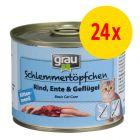 Sparpaket grau Schlemmertöpfchen Kitten 24 x 200 g
