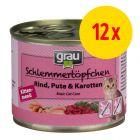 Sparpaket grau Schlemmertöpfchen Kitten 12 x 200 g