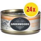 Sparpaket Greenwoods Adult Nassfutter 24 x 70 g