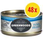 Sparpaket Greenwoods Adult Nassfutter 48 x 70 g