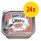 Sparpaket Happy Cat Duo Häppchen auf Paté Schälchen 24 x 100 g