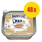 Sparpaket Happy Cat Duo Häppchen auf Paté Schälchen 48 x 100 g