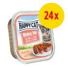 Sparpaket Happy Cat Minkas Duo Häppchen auf Paté Schälchen 24 x 100 g